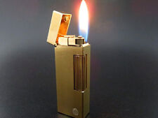 VERY RARE Design!! Dunhill Rollagas Lighter Gold Plated SWISS MADE [646]