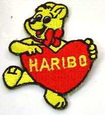 HARIBO BEAR GUMMY GOLDBEAR  Embroidered Iron Sew On Cloth Patch Badge  APPLIQUE