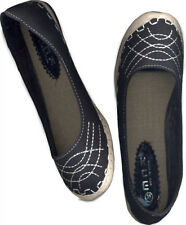 NWOB, COMFY ESPADRILLE INSPIRED BLACK FLAT SHOES_S35/34