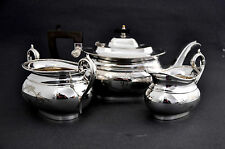 Antique W.G Sissons Sheffield EPNS 3 Piece Silver Plated Tea Service Set