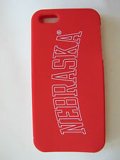 Victoria's Secret PINK NEBRASKA iphone 4 4S Soft Silicon Red Case Cover