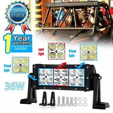 36W 7inch Spot Work LED Light Bars Driving Offroad SUV Car Boat 4WD ATV Truck