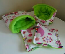 GUINEA PIG SNUGGLE BED CUDDLE CUP HOUSE PEE WEE PADS SET HEDGEHOG SMALL PET RAT