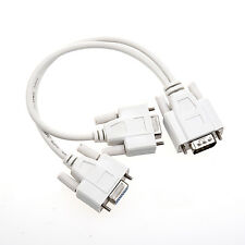 New VGA Male To 2 VGA Female Monitors Splitter Cable For VGA Video N3