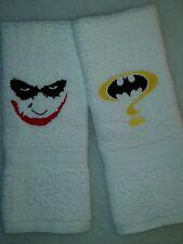 CUSTOM - BATMAN LOGO ? JOKER FACE DARK KNIGHT GOTHAM BATH HAND TOWEL SET
