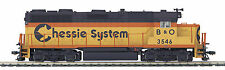 MTH HO Trains #3546 Chessie B&O GP-35 Diesel Engine Proto Sound 3.0 80-2231-1