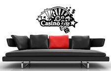 Wall Stickers Vinyl Decal Casino Roulette Gambling Poker ig1616