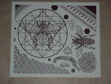 Untitled Thomas Hooper signed screen print poster Neurosis tattoo flash art bees