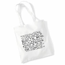 Tote Bag RED HOT CHILI PEPPERS Lyrics Art Print Album Poster Festival Beach Gift