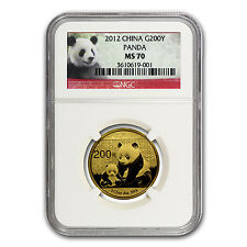 2012 China 1/2 oz Gold Panda MS-70 NGC - SKU #67315