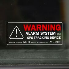 4 CAR ALARM WINDOW STICKER Vehicle Protection Device Warning Car Van - external