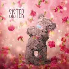 ME TO YOU SISTER 3D HOLOGRAM BIRTHDAY CARD TATTY TEDDY BEAR NEW GIFT