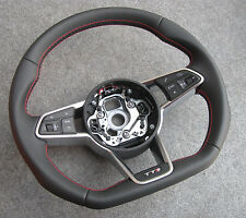 Audi TTS 2015 TT flat bottom RED THREAD steering wheel with DSG 8S 8S1 TTRS RS