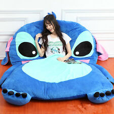 Giant Lilo & Stitch Plush Totoro Single Beanbag Cartoon Tatami Bed Sleeping Bag