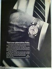 1966 ROLEX OYSTER PERPETUAL CHRONOMETERS ORIGINAL ADVERTISING CLASSIC WATCH AD