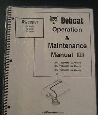 Bobcat Skid Steer SWEEPER 54 60 72 Operation & Maintenance Manual revised 2005