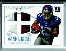 2014 National Treasures NFL Gear Odell Beckham Jr.*Rookie* D# 21/25 N.Y. Giants