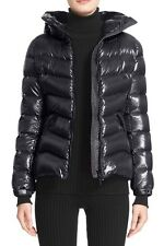 New Authentic 2016 Moncler Anthia Shiny Hooded Down Puffer Nwt Black