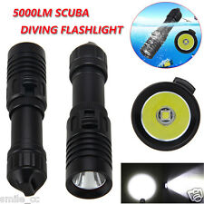 Underwater 100m 5000LM XM-L2 LED 18650 Scuba Diving Flashlight Torch Light Lamp