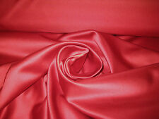"RUBY RED 100% POLYESTER LAMOUR/ PEAU DI SOIE SATIN FABRIC 58"" WIDE BTY"