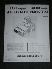 1970 McCULLOCH KART ENGINE MC101 SERIES ILLUSTRATED PARTS LIST MANUAL, COPY
