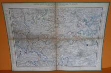 Alte Landkarte Deutschland um 1850 Niedersachsen Harz Sachsen Anhalt Halberstadt