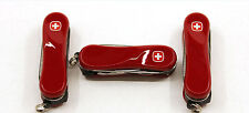 LOT 3 NEW WENGER SWISS ARMY KNIVES NAIL CLIPPER AT RED - 16918 LOT-3
