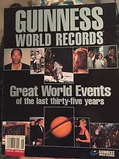 Guinness World Records Great World Events of the Last Thirty-five Years 2000 bk
