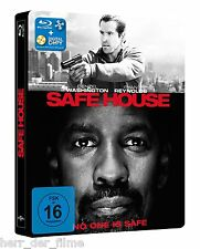 SAFE HOUSE (Denzel Washington, Ryan Reynolds) Blu-ray Disc, Steelbook NEU+OVP
