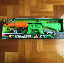 Adventure Force Action Role Rifle Machine Gun Kids Toy Lights Sounds Vibrations