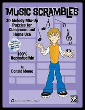 Music Scrambles: 30 Melody Mix-Up Puzzles for Classroom and Home Use (Book & CD)