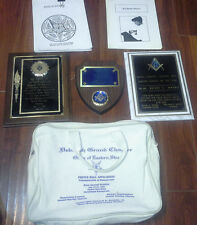Lot of Free Mason Items, Books Plaques and New Member Papers Eastern Star #52