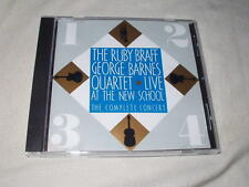 RUBY BRAFF-GEORGE BARNES QUARTET Live at the New School (1974) CD Jazz Trumpet