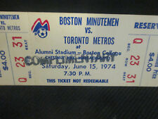 BOSTON PROFESSIONAL SOCCER INC=BOSTON MINUTEMEN V TORONTO METROS TICKET-6/15/74