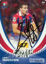 ✺Signed✺ 2013 NEWCASTLE KNIGHTS NRL Card CHRIS HOUSTON Power Play