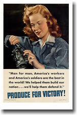 America's Workers Are The Best in the World - NEW Vintage WW2 Art Print POSTER