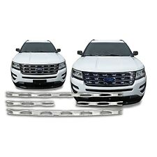 Chrome Grille Overlay (4 Pieces Kit) FOR 16 17 2016 2017 Ford Explorer