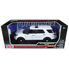 MOTORMAX 73541 2015 FORD PI UTILITY INTERCEPTOR 1/18 UNMARKED POLICE CAR WHITE