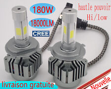 2x H4 160W 16000LM CREE LED Phare Ampule Feux Voiture Lampe H7 H11  Blanc 6000K