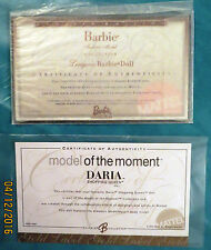Certificats d'authenticité COA BARBIE ou MODEL OF THE MOMENT DARIA ou LINGERIE 6