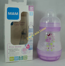 MAM Biberon First bottle 160ml anticolica tettarella flusso 1 mesi 0+ rosa