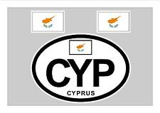 CYPRUS FLAG WINDOW / BUMPER STICKER FOR CAR BIKE CARAVAN TRAILER