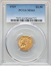 1929 PCGS MS63 $2.5 Indian Head Gold Quarter Eagle Type Coin Uncirculated $2.50