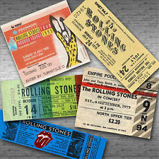 ROLLING STONES Magnetic Retro Concert Ticket Set!