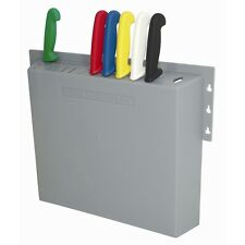 Hygiplas D718 Commercial Kitchen Knife Wall Rack 14 Slots @ Next Day Delivery