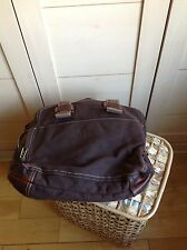 Ugg bag in brown canvass with leather trim
