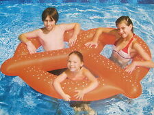 INFLATABLE GIANT PRETZEL Swimming Pool RAFT TUBE Swimline #90640 NEW