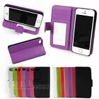 Luxury Flip Leather Card Holder Wallet Case Cover For Apple iPhone 5 5S 5C 4S 4