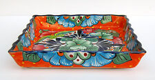 MEXICAN POTTERY SQUARE SERVING DISH 10 1/2""