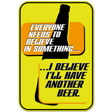 "Belive in Beer Funny Adult Alcohol car bumper sticker decal 5"" x 4"""